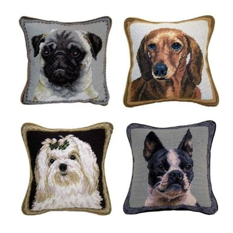 Doggie Pillow by What A Bark 25 Of The Striking Needlepoint Pillows