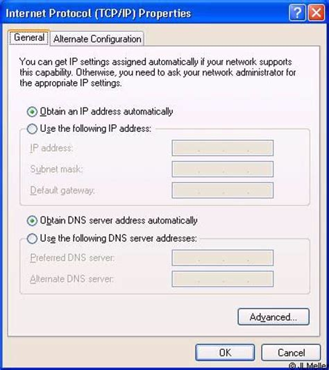 configure xp for local network internet connection can t be made configuration