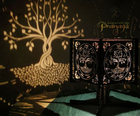 pranaya design tree  life shadow lamp prototype