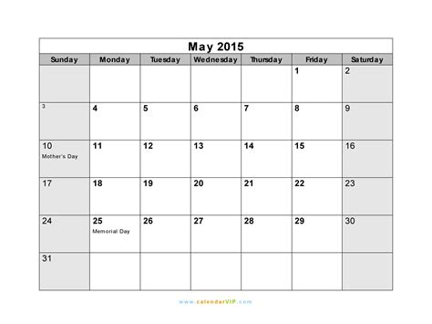 Calendar 2015 May Excel May 2015 Calendar Blank Printable Calendar Template In