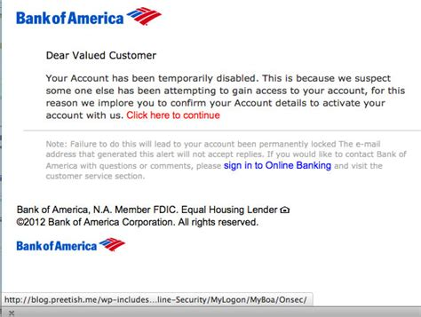 Bank Account Letter Bank Of America The Daily Scam Bank Of America