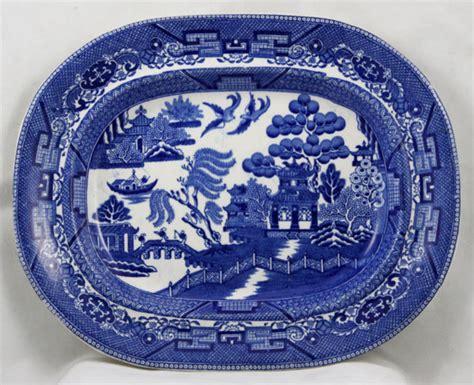 Dziner Ori Blue List White Blue blue willow platter for sale antiques classifieds