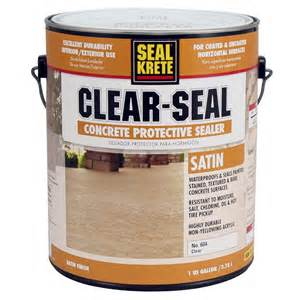 home depot deck sealer seal krete 1 gal satin clear seal concrete protective
