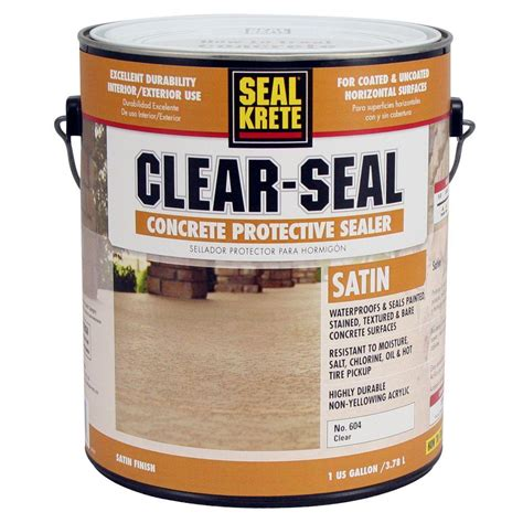 bathroom paint sealer seal krete 1 gal satin clear seal concrete protective