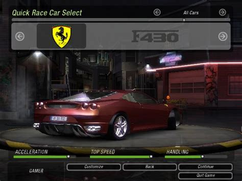 mod game nfs underground 2 need for speed underground 2 ferrari f430 coupe nfscars