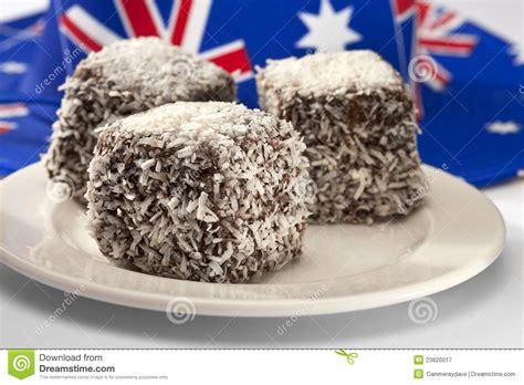 kuchen australien australischer lamingtons kuchen stockbild bild 23620017