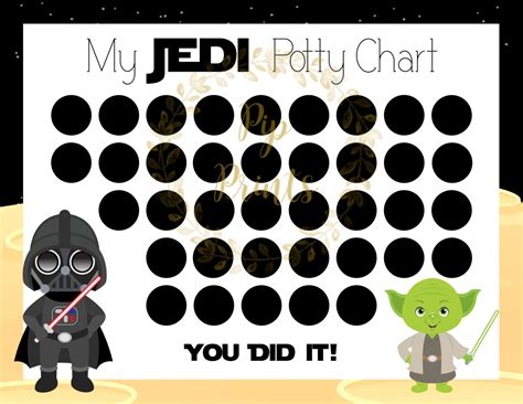 printable star wars reward chart printable star wars potty chart darth vader and yoda