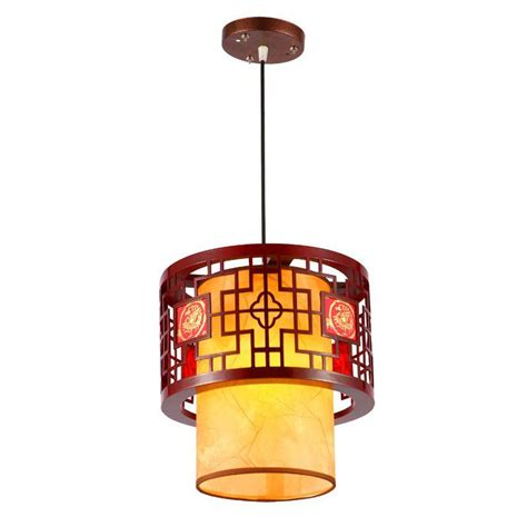 Dining Room Pendant Lighting Fixtures Chinese Style Wooden Teahouse Pendant Lamp Vintage Classic