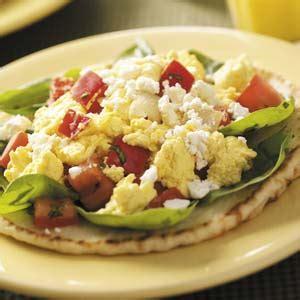mediterranean breakfast pitas recipe taste of home