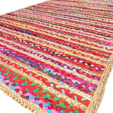 area rag rugs colorful jute rug with stripes chindi rag rugs of