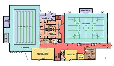 recreation center floor plans brookings recreation center plans unveiled
