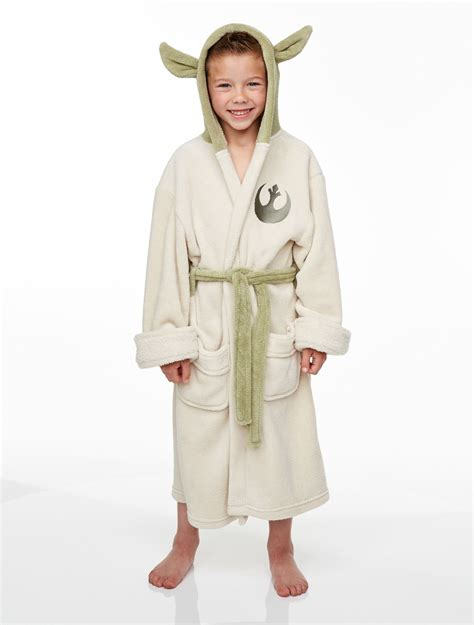 robe de chambre bébé fille officiel enfants wars jedi yoda polaire peluche