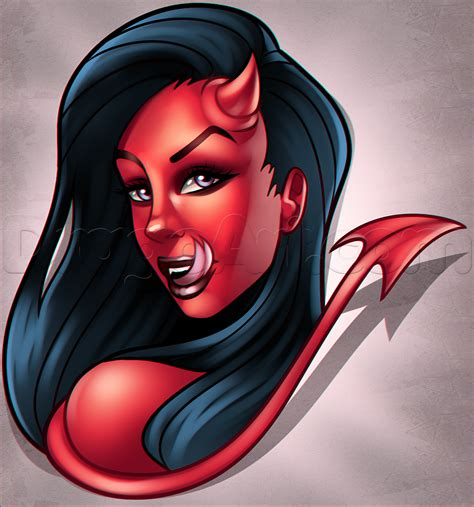 devil girl tattoo how to draw a step by step tattoos pop