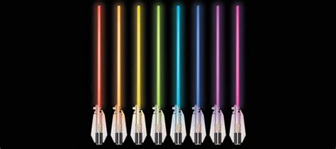 how many lightsaber colors are there wars science multicolor lightsaber room