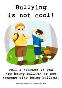 Bullying is not cool poster