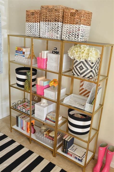nornas bookcase hack black ikea bookshelves painted gold diy decor and