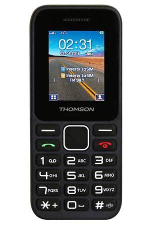 telefonie mobili t 233 l 233 phone portable thomson tlink 11 noir tlink darty