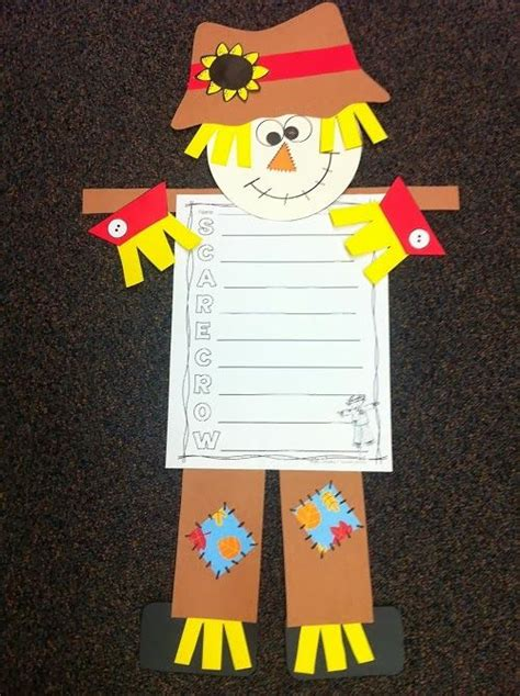 scarecrow pattern for kindergarten bring fall into your classroom with this adorable