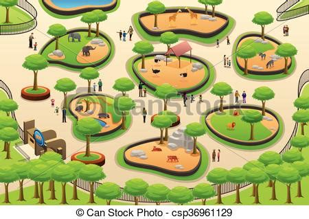 Small Retirement Home Plans vector illustration of people visiting a zoo a vector