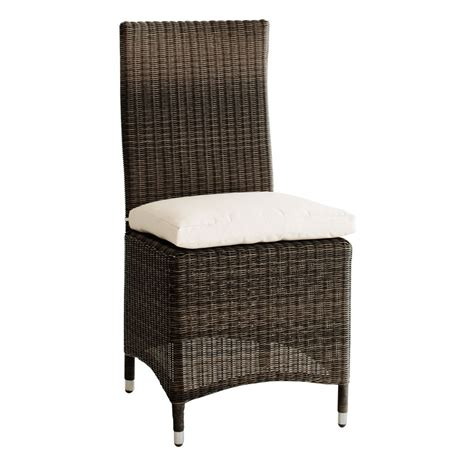Garden Chair Material by Wicker And Fabric Garden Chair Cushion In Brown Bali Maisons Du Monde