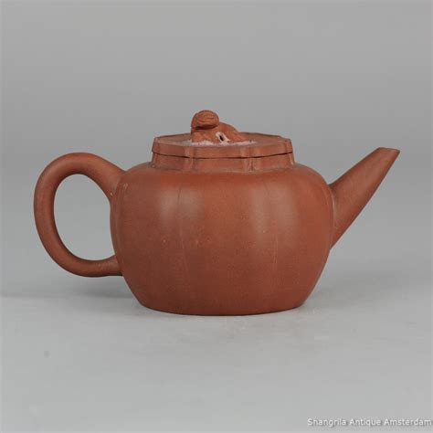 Yixing Teapot It Or It by 19th C Yixing Teapot Foo Lid Marked Base Zuni Zisha