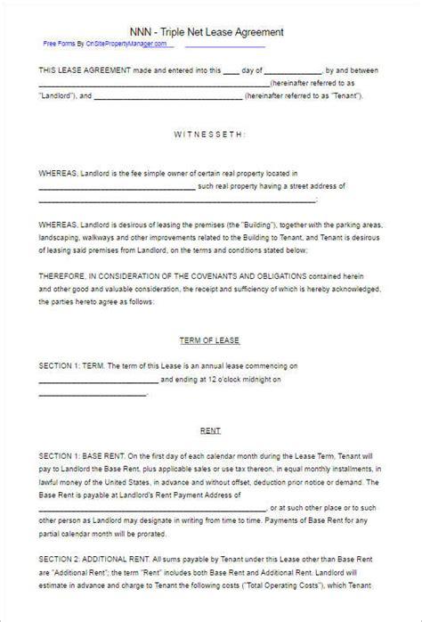 rental lease agreement   sample word formats