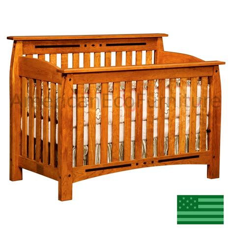 Amish Arcadia 4 In 1 Convertible Baby Crib Made In Usa Wood Baby Cribs