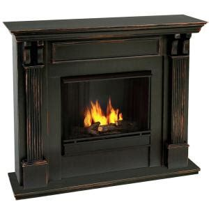 Ventless Gas Fireplace Home Depot by Real 48 In Gel Fuel Fireplace In Blackwash