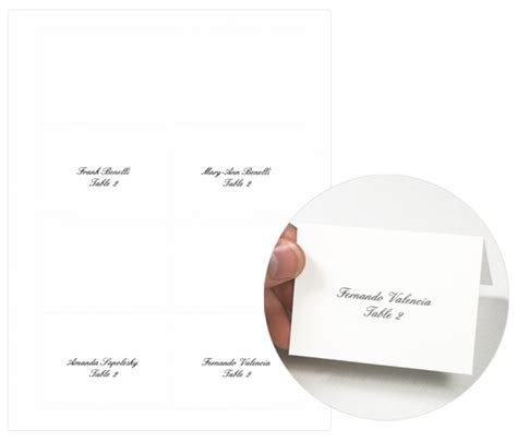 place card template word 2003 how to use microsoft mail merge to print 4up place cards