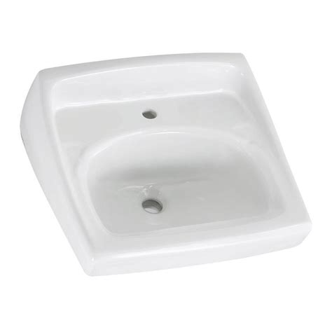 bathroom sink overflow american standard lucerne wall hung bathroom sink in white