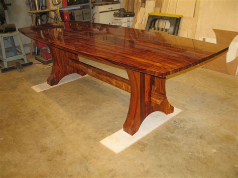 what is a cocobolo desk hand made curly koa and cocobolo dining set by daffinrud