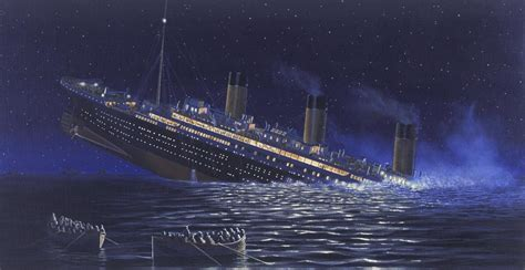 pictures of the titanic sinking titanic liners