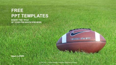 American Football Sports Ppt Templates Football Field Powerpoint Template