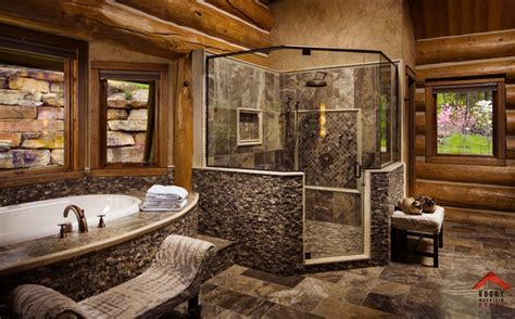lodge bathroom lodge style living rocky mountain homes
