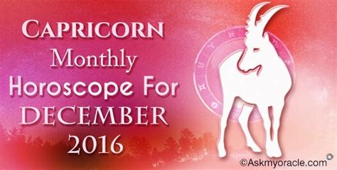 Capricorn Monthly Horoscope by Ask My Oracle 2017 Horoscope Predictions Indian