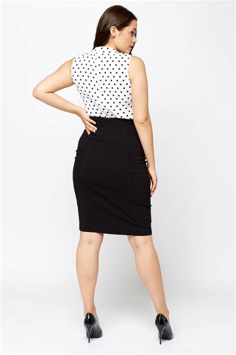 black pencil midi skirt just 163 5