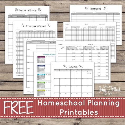 homeschool planner printable free printable homeschool planning pages
