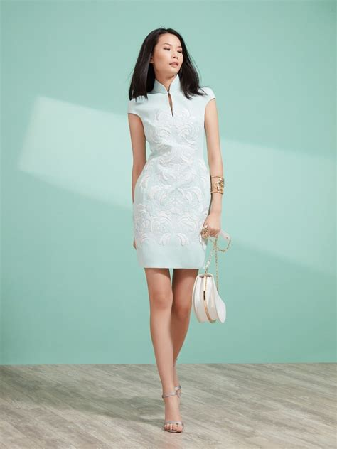 Sleeve Qipao cap sleeve embroidery qipao dress