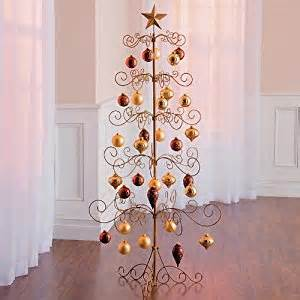 festive 60 quot metal christmas ornament display tree star