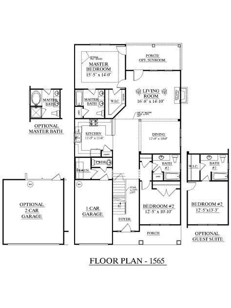 cypress floor plan houseplans biz house plan 1565 b the cypress b