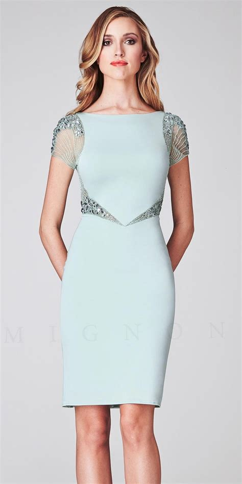 beaded illusion cocktail dress illusion beaded cap sleeve cocktail dresses by mignon