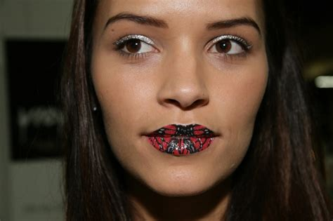 tattoo lips cosmo slideshow tattooed lips and eye patches the latest hair