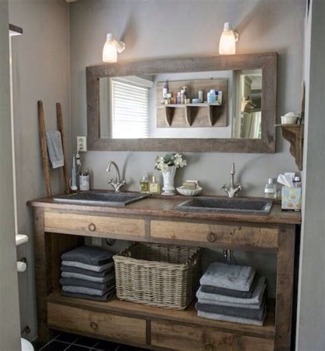 modern rustic bathroom vanity altholz rahmen f 252 r spiegel bei www jodler de luxury modern bathrooms pinterest bath house