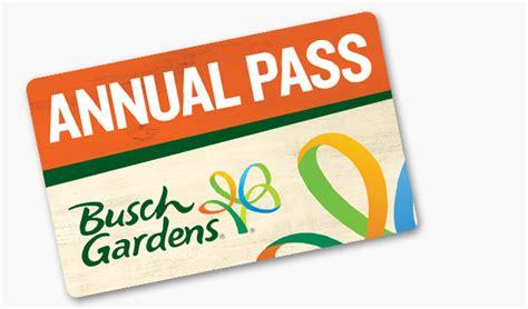 busch gardens annual pass benefits