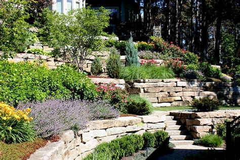hillside landscape ideas back yard jbeedesigns outdoor