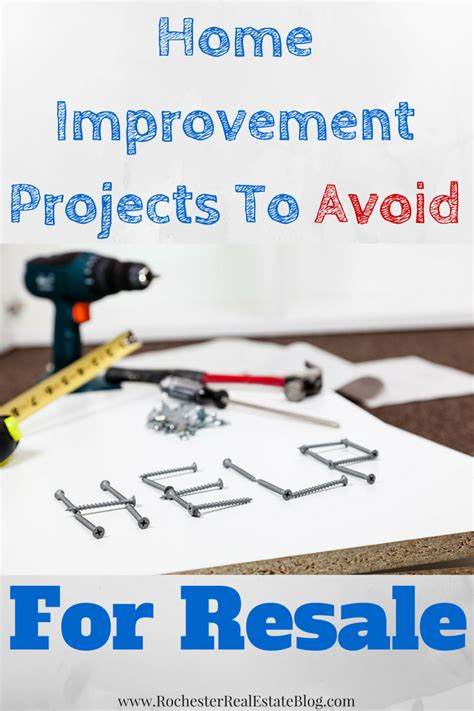 home improvement projects to avoid for resale