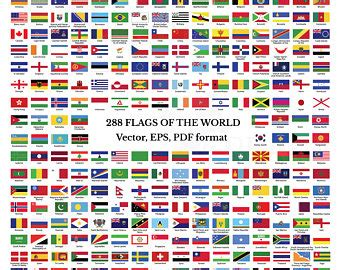 flags of the world pdf illustrator etsy