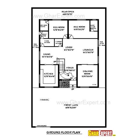 80 Sq Ft | house plan for50 feet by 80 feet plot plot size 444
