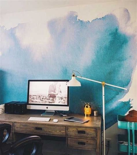 How To Paint Mural On Wall wool watercolor wallpaper and watercolor walls on pinterest