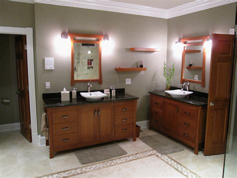 His Cabinetry All Pocket Cherry Cabinets Mirrors And Shelves